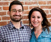 Photo of a man and woman smiling for a picture. Link to Life Stage Gift Planner Under Age 45 Situations.