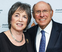 Photo of a man and woman smiling for a picture. Link to Life Stage Gift Planner Over Age 65 Situations.